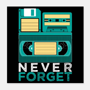 Jaren Negentig Never Forget VHS cassette eighties Retro disc - Poster