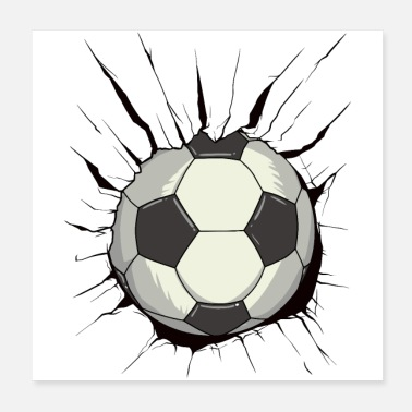 Football Football révolutionnaire - destruction de la paroi de la balle - Poster 20 x 20 cm