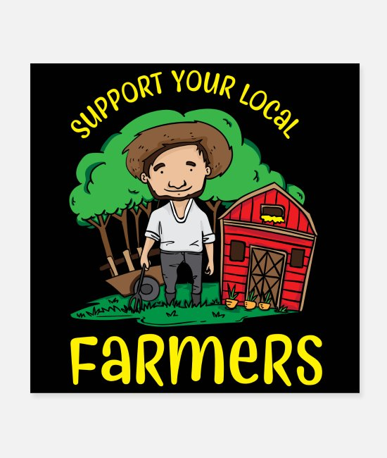 Chicken Coop Posters - Support Your Local Farmers - Posters white
