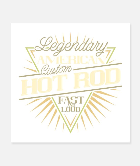 Automobile Posters - HOT ROD - Posters white