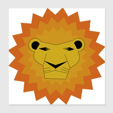 Safari Lion / Animal / Safari / King - Poster 20x20 cm