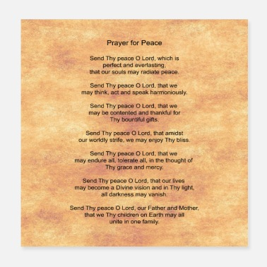 Prayer Prayer for Peace - Poster 20x20 cm