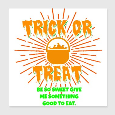 Trick or Treat - Poster 20x20 cm