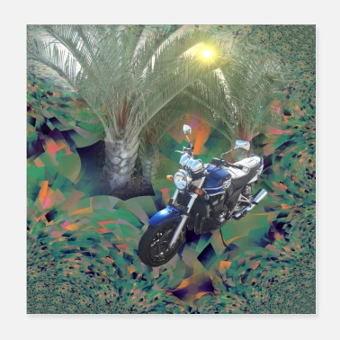 Popular Motorcycle in the Canary Islands - Poster 20x20 cm