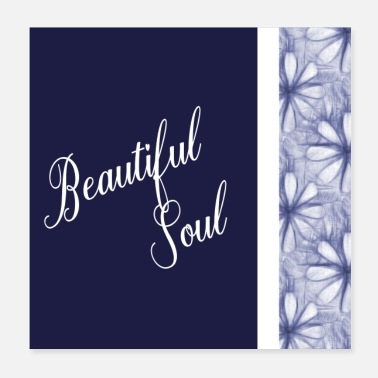 Navy Positive Affirmation Beautiful Sayings Beautiful Soul - Poster