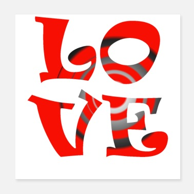 Affection Love - Poster 20x20 cm
