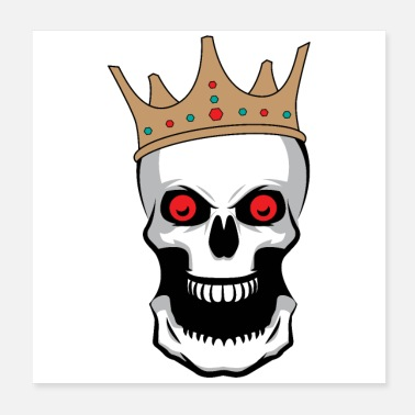 Mouth Halloween king of skeletons crown big mouth - Poster 20x20 cm