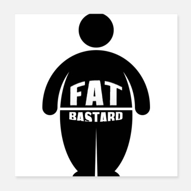 Haha Fat Bastards: Version 2 - Poster