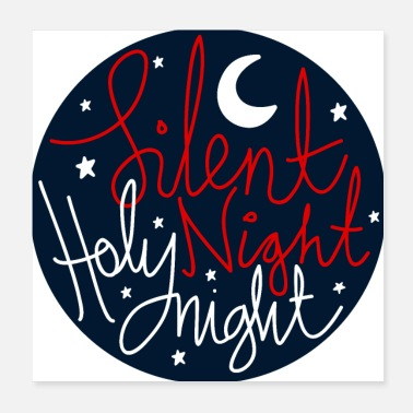 Christmas Collection Stille Nacht Heilige Nacht - Poster 20x20 cm
