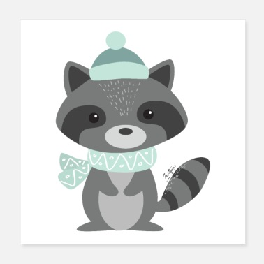 Animal Collection The Raccoon - Poster