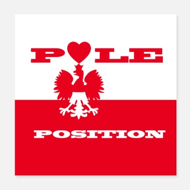Positivity Pole position - Poster 20x20 cm