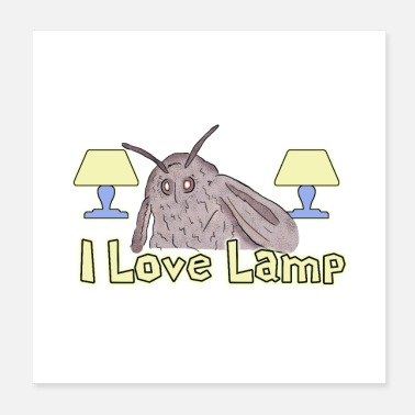 Meme Moth Loves Lamp Meme - Juliste 20 x 20 cm