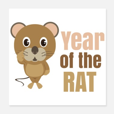 Year Of Birth Chinese zodiac year of the rat - Poster 20x20 cm