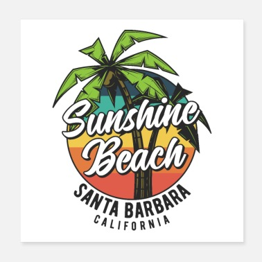 Vesiurheilu Surffaaminen Sunshine Beach - Juliste 20 x 20 cm