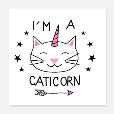 Licorne caticorn chat animal sweet best-seller licorne - Poster 20 x 20 cm