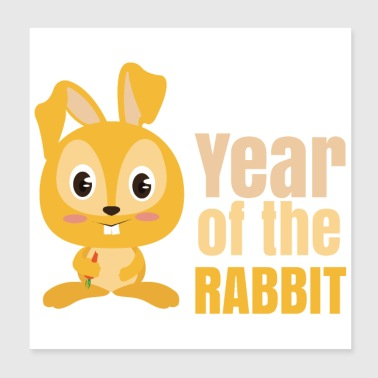 Year Of Birth Chinese Zodiac Year of the Rabbit - Poster 20x20 cm