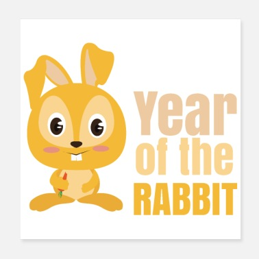 Chinese Chinese Zodiac Year of the Rabbit - Poster 20x20 cm