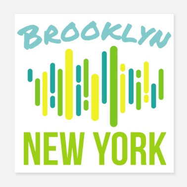 Breakdance Hip Hop Brooklyn New York - Idée cadeau - Poster 20 x 20 cm