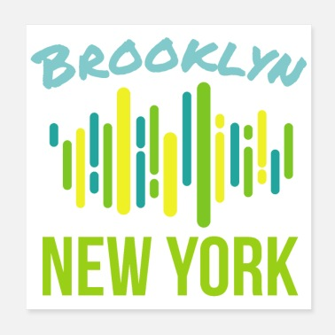Breakdance Hip Hop Brooklyn New York - Lahjaideoita - Juliste 20 x 20 cm