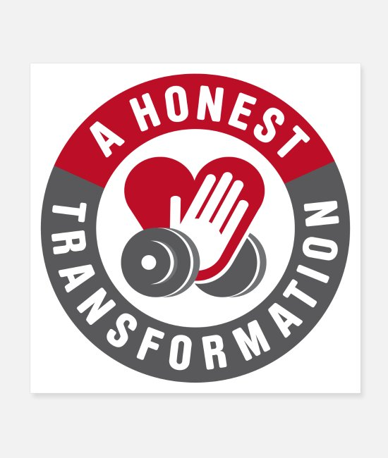 Bulk Up Posters - Honest Transformation Heart - Posters white