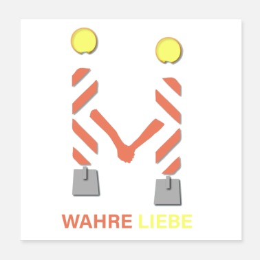 Traffic Love in traffic - Poster 20x20 cm