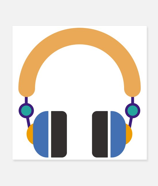 Song Posters - Flat design music headset please do not bother - Posters white