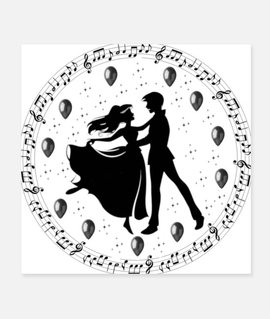 Tango Posters - Dancers, Dancers - Posters white