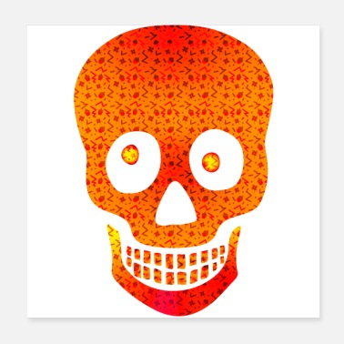 Party Party Halloweeen Skull - Poster