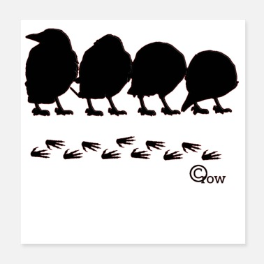 Story crow story - Poster 20x20 cm