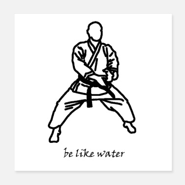 Kendo be like water - Poster