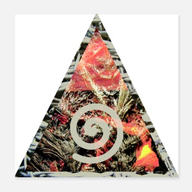 Stone Age Triangle / illuminati as a poster - Poster