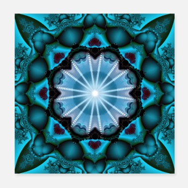 Turquoise turquoise fractal - Poster