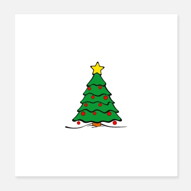 Geschwister Christmas-Tree - Poster 20x20 cm