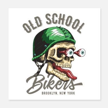 Motor Race Cool T-shirt Old School - Poster 20x20 cm