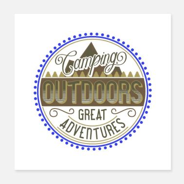 Outdoor sehr cooles Camping Outdoor Design - Poster 20x20 cm