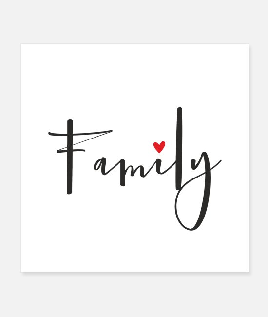 Friendship Posters - Family heart love - Posters white