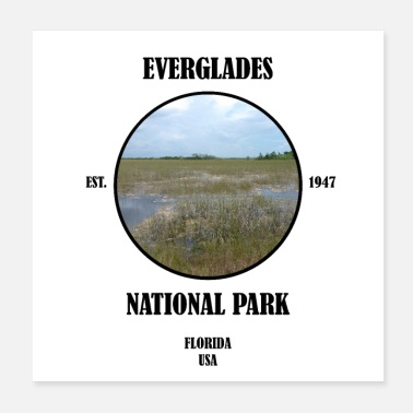 Fauna Everglades National Park Florida Miami Key West USA - Poster