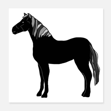 Grey Horse - Poster 20x20 cm