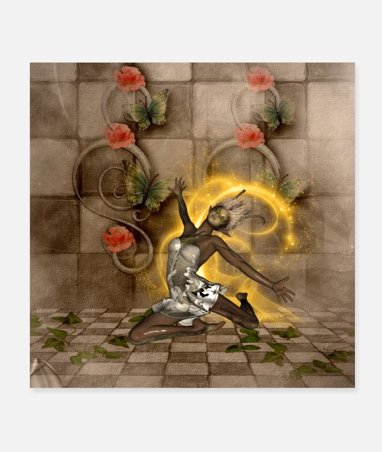 Alas Posters - Awesome magical fairy - Posters white
