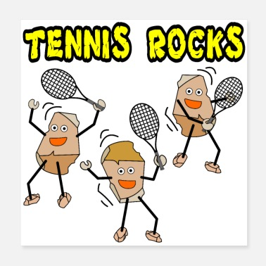 Backhand Tennis Rocks - Poster