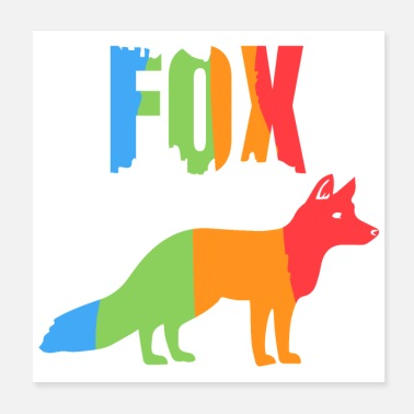 Foxtrot Animals Fox - Gift idea - Poster