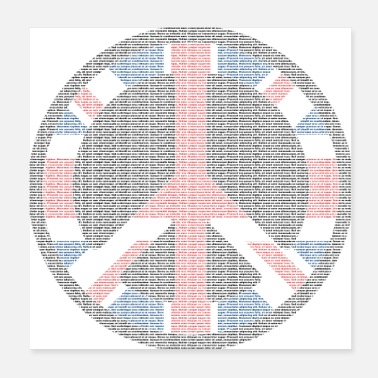 Peace Movement Peace sign - Poster 20x20 cm