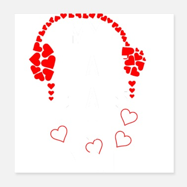 Marriage My heart beats ...! | Teddy Bear | by ilmioo - Poster 20x20 cm
