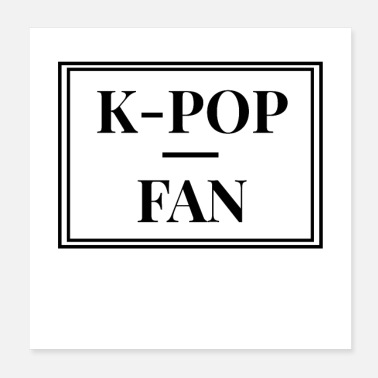 Fan K-Pop Fan - elegantes Fan Design - Poster
