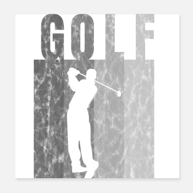 Punch Golf Golfing Shirt Lahjaide Golfer Punch - Juliste 20 x 20 cm