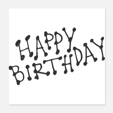 Congratulations happy Birthday - Poster 20x20 cm