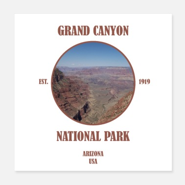 Géographie Grand Canyon National Park Arizona Las Vegas USA - Poster 20 x 20 cm