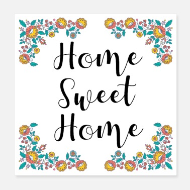 Homme home sweet home - Poster