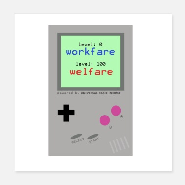 Console Basic income game console - Poster 20x20 cm