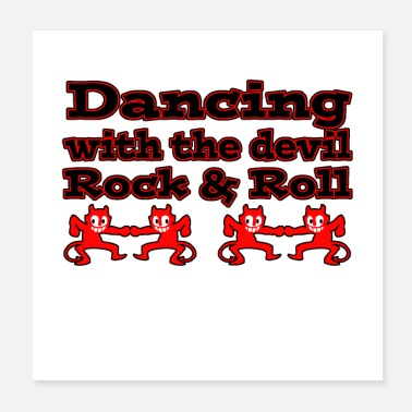 Rockabilly Dancing with the devil II - Poster 20x20 cm
